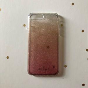 ♠️Ombré Glitter Rose Gold Kate Spade iPhone 8 Plus